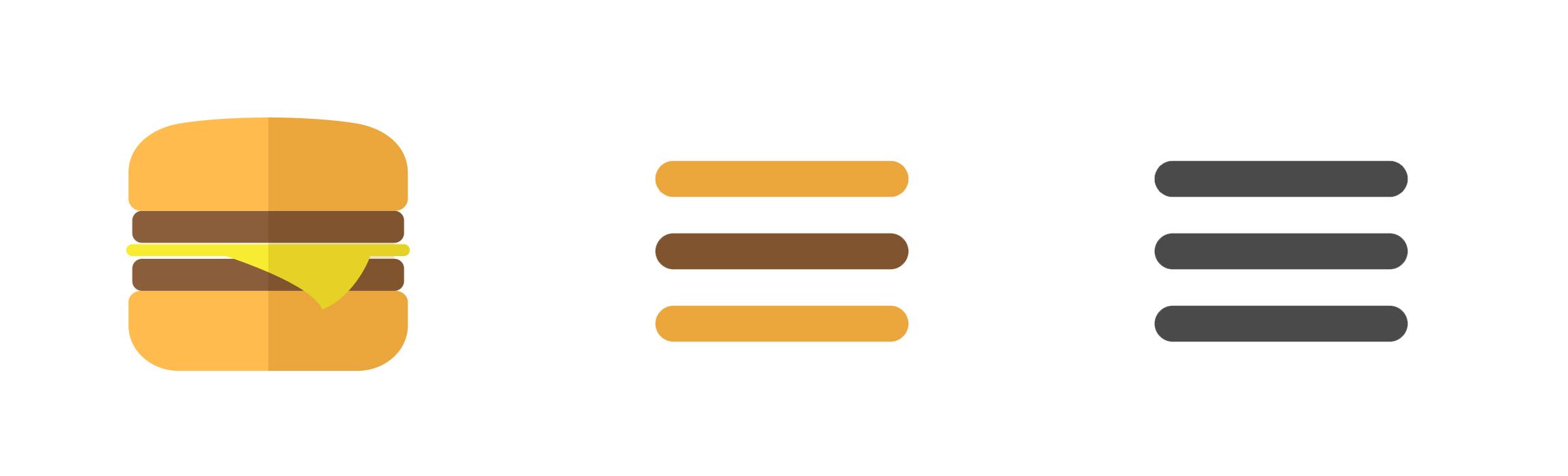 Menu burger - Design d'IHM